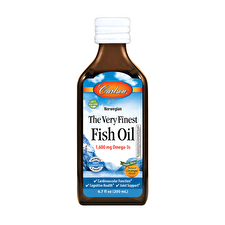 Carlson Fish Oil Omega 3's DHA and EPA Orange Flavour 200ml