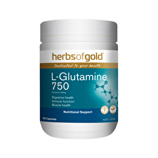 Herbs of Gold L-Glutamine 750 120vc