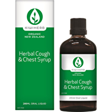 KiwiHerb Herbal Cough and Chest Syrup 200ml