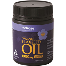 Melrose Organic Flaxseed Oil 1000mg 100vc