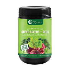 NutraOrganics Super Greens Plus Reds 180c
