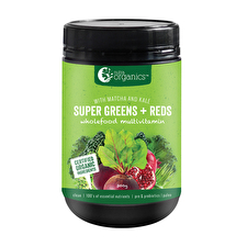 NutraOrganics Super Greens Plus Reds Powder 300g