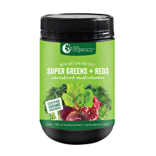 NutraOrganics Super Greens Plus Reds Powder 150g