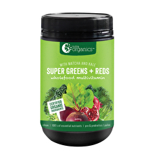 NutraOrganics Super Greens Plus Reds Powder 600g