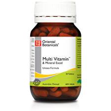 Oriental Botanicals Multi Vitamin and Mineral Excel 30t