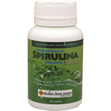 Ross Gardiner Super Strength Spirulina Organic 1000 60c