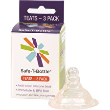 Safe T Bottle Baby Bottle Teats Slow Flow x 3 Pack