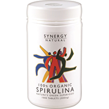 Synergy Natural Organic Spirulina 500mg 1000t