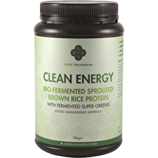 Wise Nutrients Clean Energy Brwn Rice Protn Supr Greens 900g