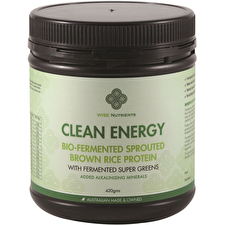 Wise Nutrients Clean Energy Brwn Rice Protn Supr Greens 420g